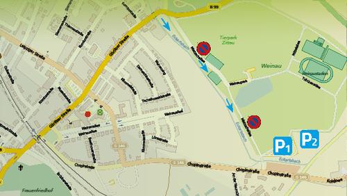 WEINAU AKTIV - Parkmöglichkeiten zum 1. Mai