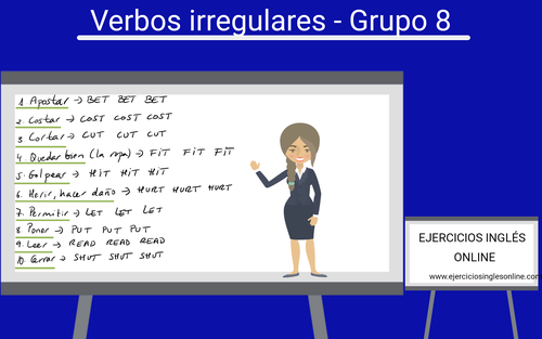 Verbos irregulares en inglés - grupo 8
