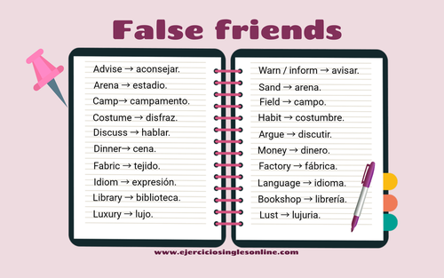 False Friends en inglés