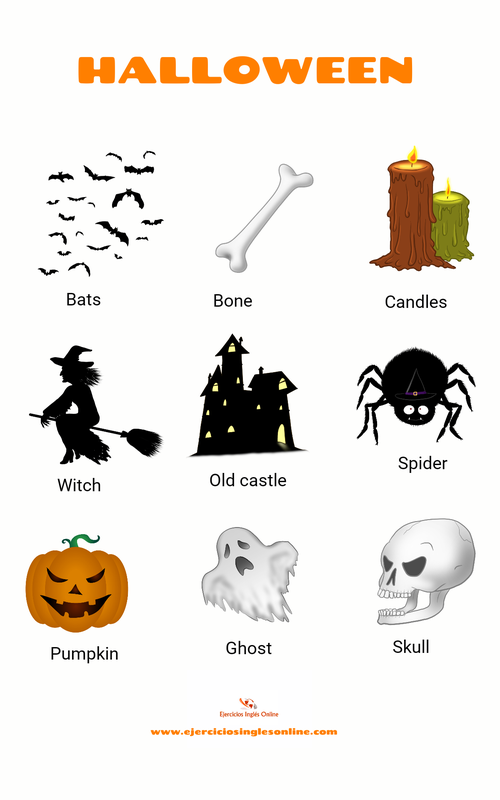Halloween vocabulario