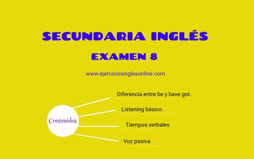 Examen 8 - Secundaria inglés