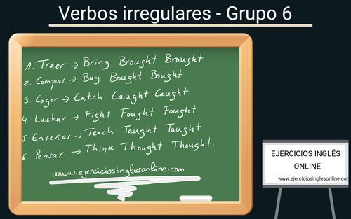 Verbos irregulares en inglés - Grupo 6
