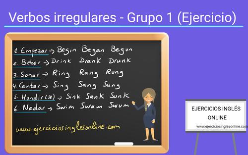 Verbos irregulares en inglés - grupo 1
