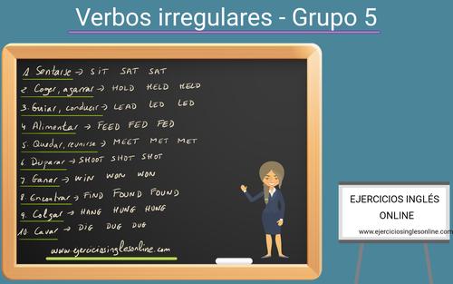 Verbos irregulares en inglés - Grupo 5