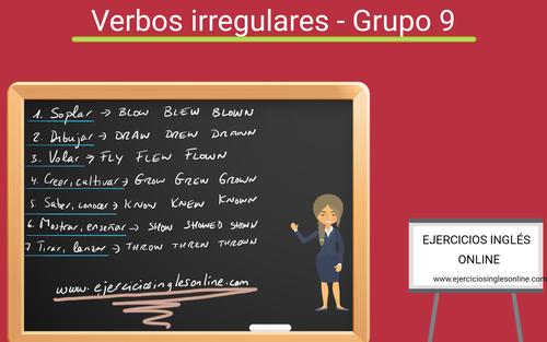 Verbos irregulares en inglés - Grupo 9
