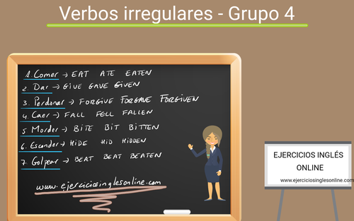 Verbos irregulares en inglés - Grupo 4