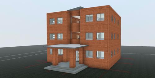 3D small_apartment 共同住宅