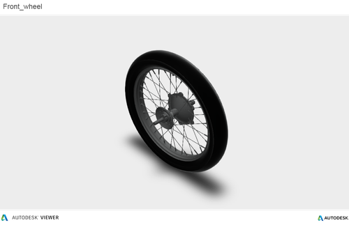 3D front wheel