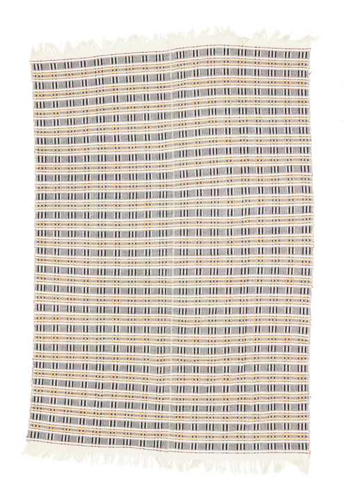 Vintage bed throw in cotton from Ghana. Tagesdecke, Baumwolle.