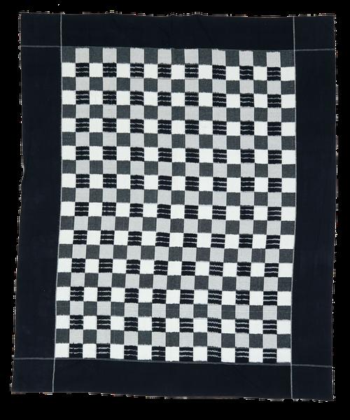 Vintage Indian indigo blanket in cotton. Tagesdecke, Baumwolle, India.