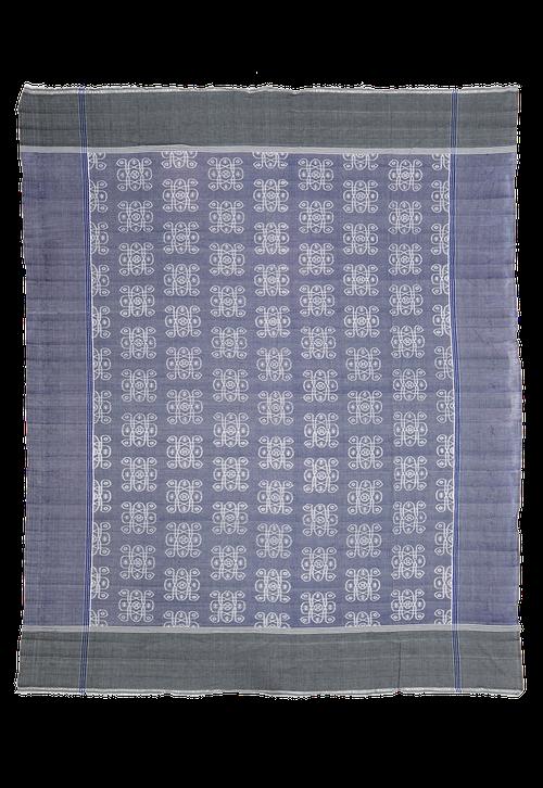 Cotton throw, indigo batik, South-East Asia, Bettdecke Indonesia, Indigo Batik Ikat, online-shop Schweiz, Suisse