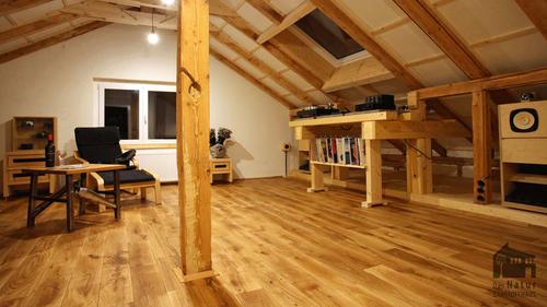 Woodline, Massivholzboden, Eiche, Dachgeschoss, Ausbau