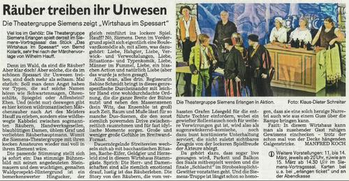 Kritik Erlanger Nachrichten vom 10.03.2015