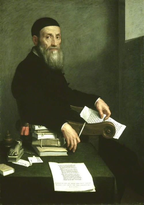 "Giovanni Battista Moroni.Retrato de Giovanni Bressanni 1562.Óleo sobre lienzo.National Gallery Edimburgo.Inspirado en grabado de Erasmo de Rotterdam por Durero.Humanista"" Esta pintura representa mi imagen temporal,pero no la de mi espíritu"""