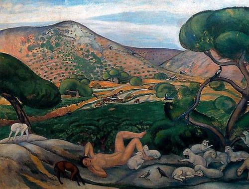 Joaquin Sunyer.Pastoral 1910.Óleo sobre lienzo.106x152cm. Generalitat de Cataluña.