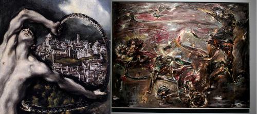 El holandés Adrian KORTEWEG(1890-1917) en su Laoconte de 1914 logró un material pictórico, paráfrasis del Greco, con una carga energética y un presagio insoslayable de la muerte.Múnich.