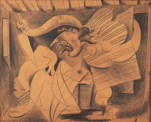 La muerte asesinato de Marat 1934. Centro Pompidou Paris.