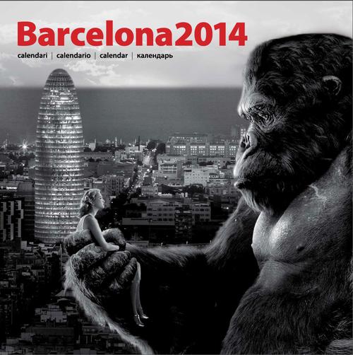 King Kong a la Torre Agbar (calendari)