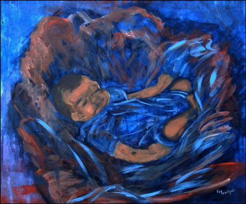 Baby  -  Olieverf op doek  30 x 40 cm