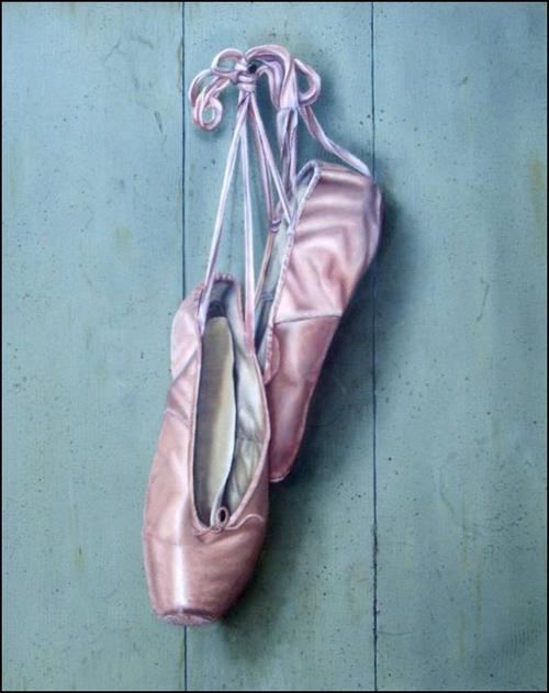 Balletschoenen - Olieverf op doek 50 x 60 cm