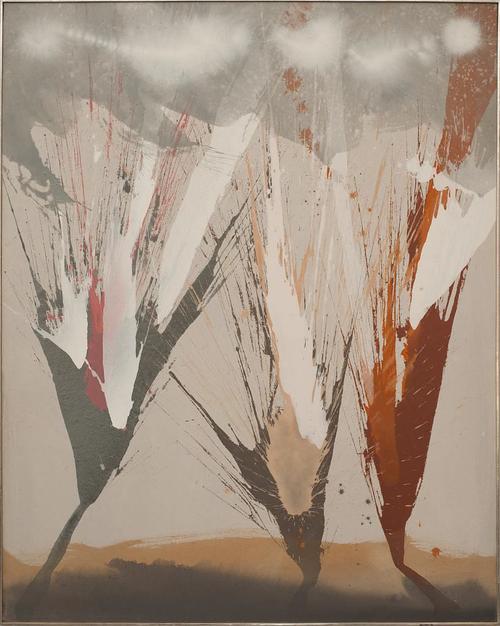 ohne Titel -  Acryl auf Leinwand, 2001 (125x100)