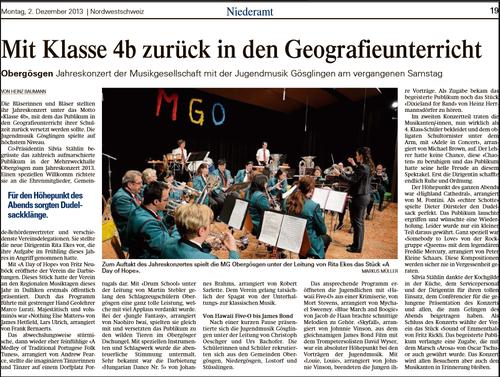 Oltner Tagblatt 2. Dezember 2013