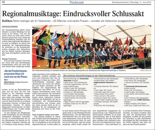 Oltner Tagblatt 11. Juni 2013