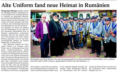 Oltner Tagblatt 10.8.2011