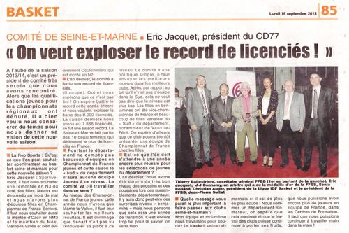 Republique de Seine et Marne 16/9/2013