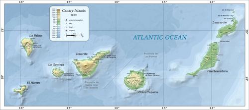 Übersicht der kanarischen Inseln