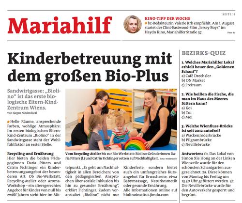 Bezirksblatt 30/2014, Mariahilf, Seite 13