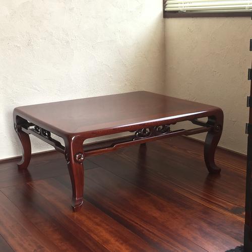 座卓の修理と塗直し (紅殻・漆)