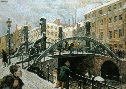 Hans Baluschek, Jungfernbrücke, ca. 1926