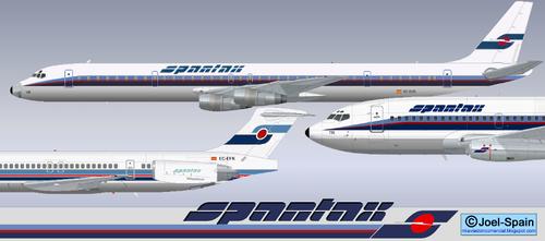 Das neue Farbschema auf der MD-80, DC-8 und Boeing 737/Courtesy: http://miaviacioncomercial.blogspot.de/