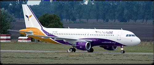 Airbus A320 der Yanair/Courtesy: Yanair