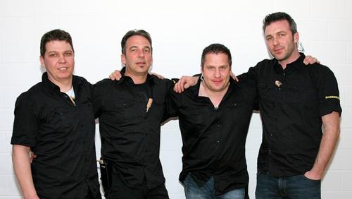 v.l.n.r. Guido Hahn, Roland Lang, Bruno Blind, Niki Vögelin