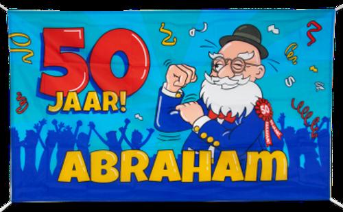 Gevelvlag 90x150 cm Abraham Cartoon € 7,95