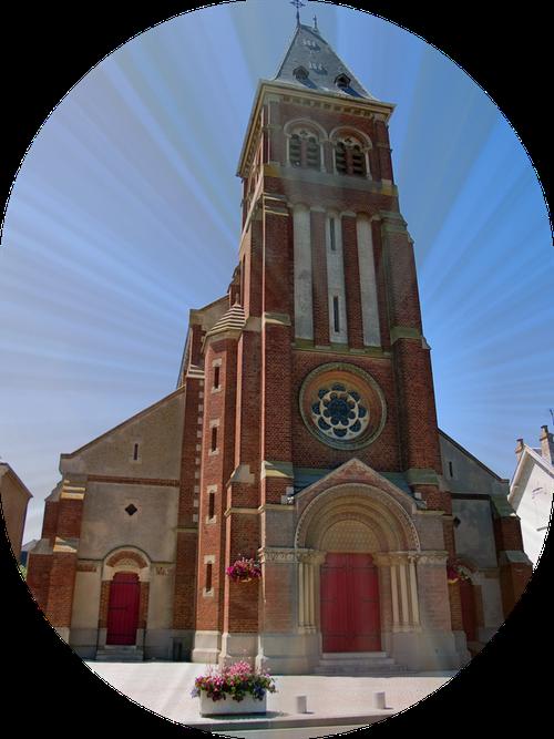 Eglise de Cayeux-sur-mer en Baie de Somme