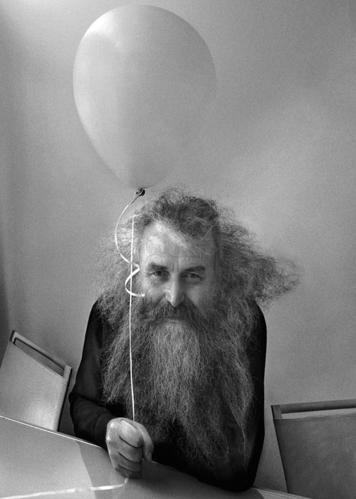 Victor Janson and the hat of the poet Ziemelnieks