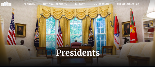 Click on the picture to visit www.whitehouse.gov's president site.