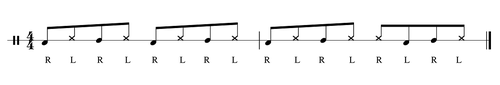 Cajon spielen nach Noten