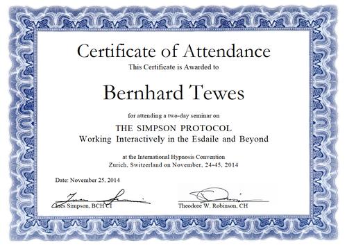 Zertifikat Simpson Protocoll