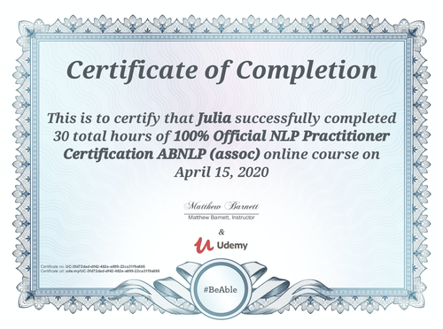 Certificate Julia Cloix NLP