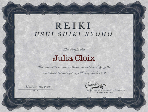 Certificate Julia Reiki