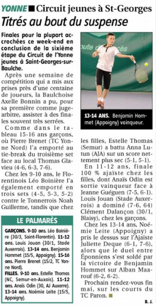 Yonne Républicaine 28/04/2014