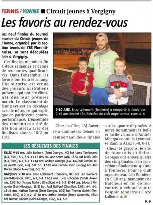 Yonne Républicaine 20 janvier 2014