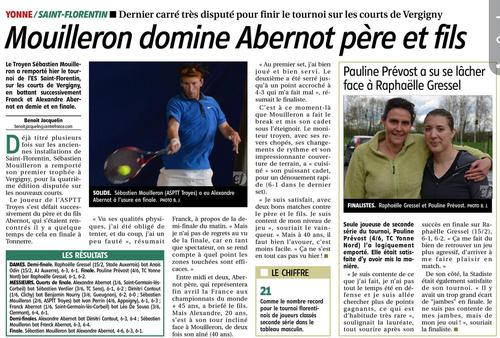Article L'YONNE REPUBLICAINE 18/04/2016