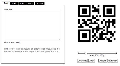 Generador de códigos qr