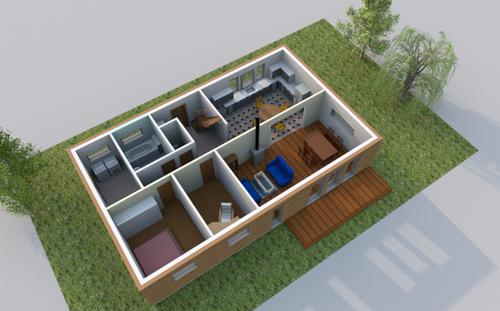 maison confort, vue RDC