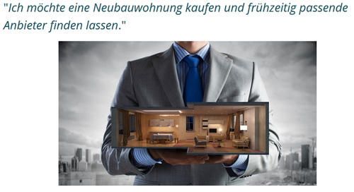 Erwerber-Profil anlegen Neubauwohnung